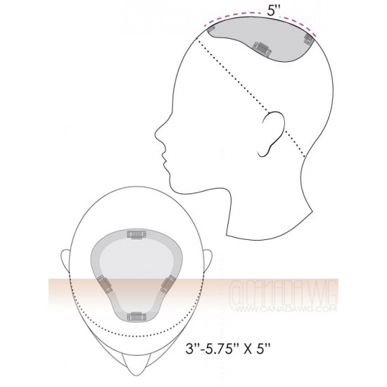 EasiPart Remy XL Top Piece Hair 8 Addition by Easihair