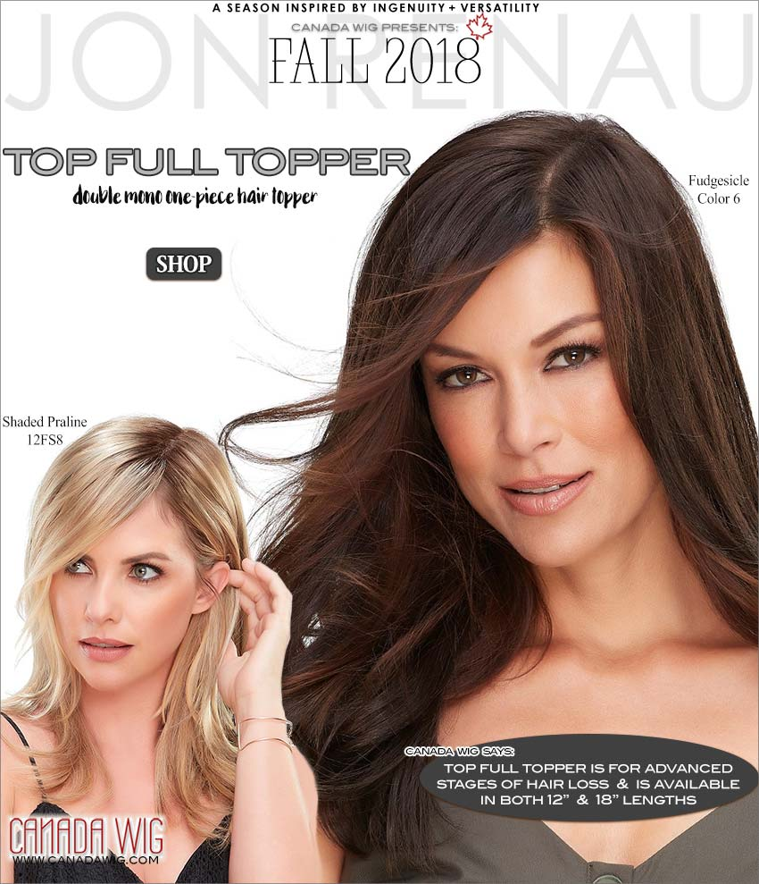 Top Full Synthetic Topper Jon Renau Fall Collection 2018 Wigs | www.canadawig.com | Canada Wig