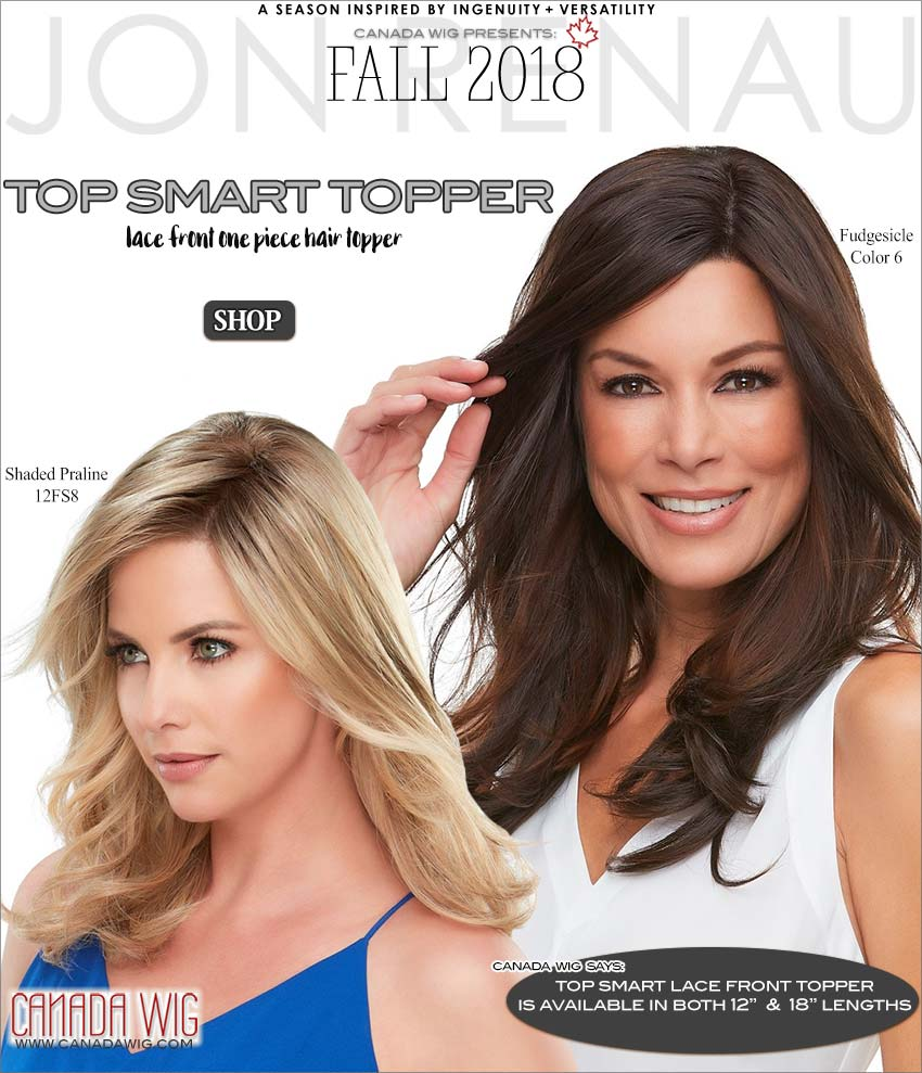 Top Smart Lace Front Topper Jon Renau Fall Collection 2018 Wigs | www.canadawig.com | Canada Wig