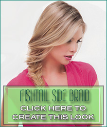 Creating a fishtail side braid with your hair topper | canadawig.com