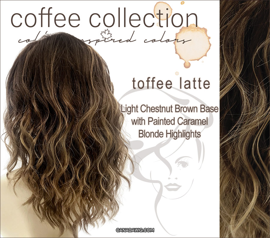 Toffee Latte - Light Chestnut Brown Base with Painted Caramel Blonde Highlights