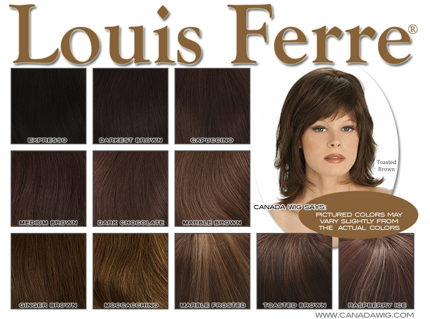 Wigs, Hairpieces, Extensions Canadawig.com - Louis Ferre Color Charts