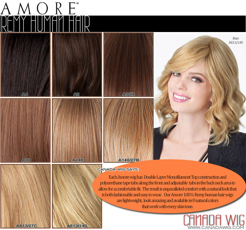 Amore Remy Human Hair Color Chart | www.canadawig.com