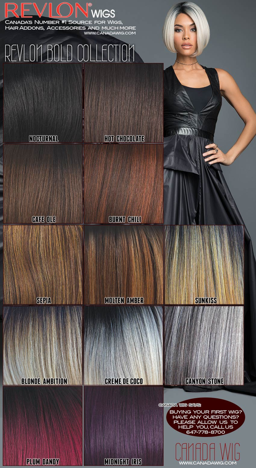 Revlon Wig Bold Collection Color Charts - www.canadawig.com | CANADA WIG