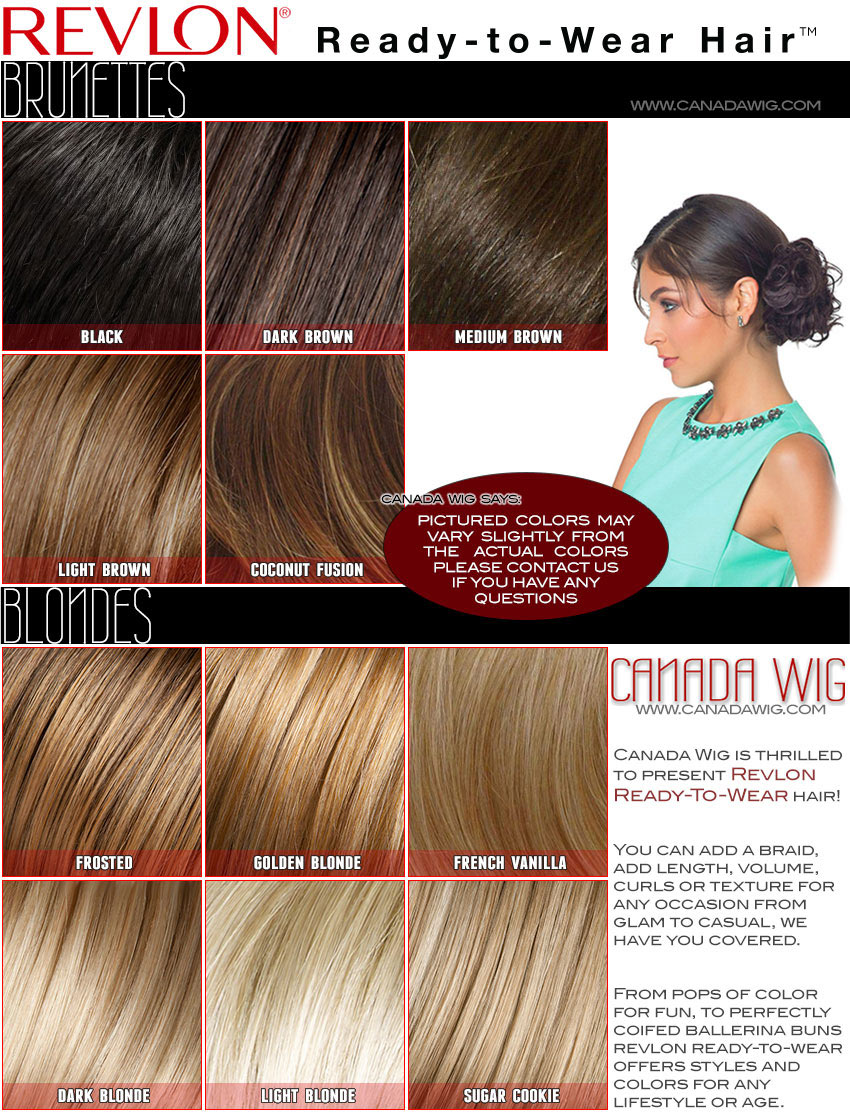 Revlon Ready-to-Wear Hair Colors | CanadaWig.com