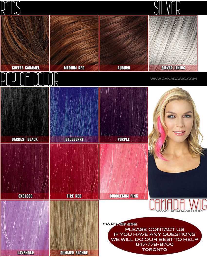 Revlon Ready-to-Wear Hair Colorchart | CanadaWig.com Toronto Wigs